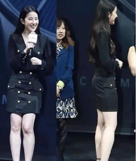 上帝吻了刘亦菲的脸,却对她的腿下了狠手?网友:不公平