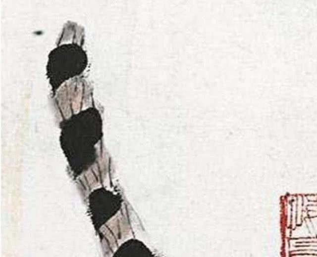 齐白石画虎只画虎屁股,却被拍出3202万高价,放年夜3倍便晓得很值