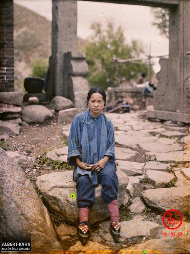彩色老照片:1913年泰山风景