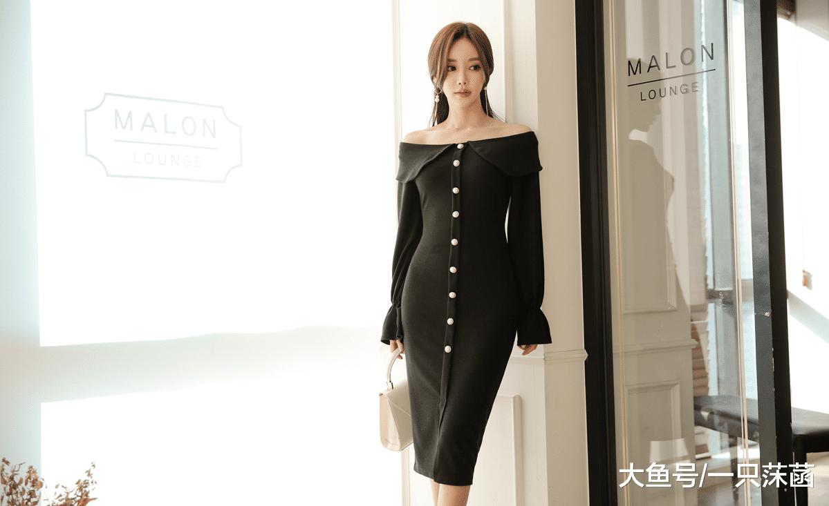 女神孙允珠,若是您的身段好,请挑选那条尊贵的抹肩礼裙