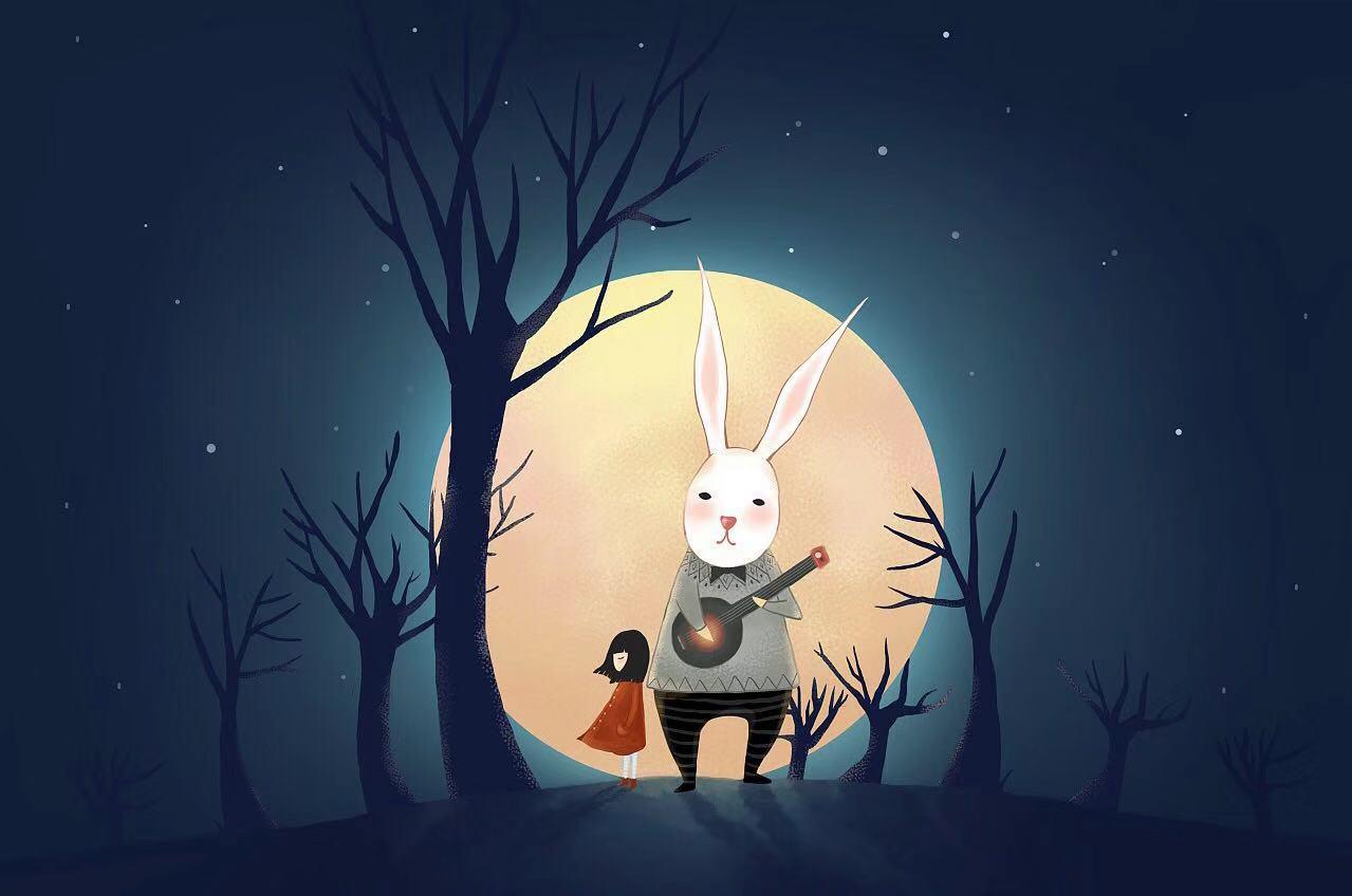夜晚窗前风景 动画