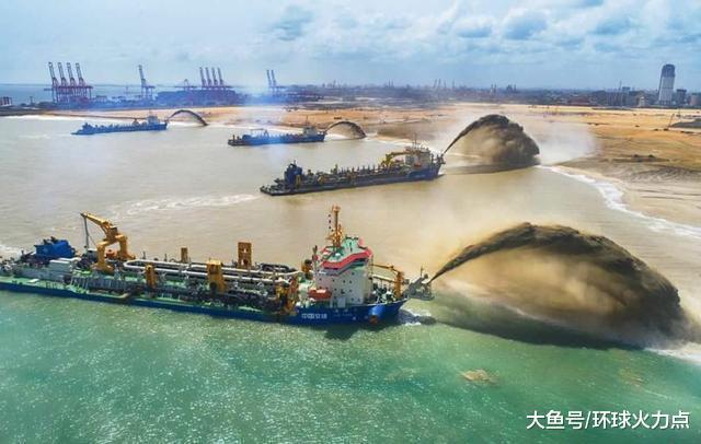 中国制岛神器在北亚扬威:硬死死挖出一块外洋属天