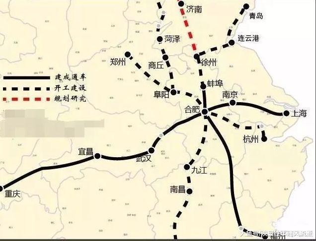 安徽和江苏将计划新高铁,齐长343.5千米,将来还和青岛相连
