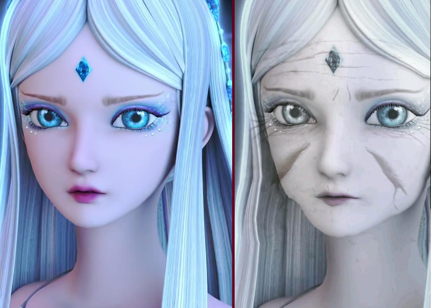 """当叶罗丽仙子们""""变老""""之后, 灵公主憔悴不堪, 王默的变化最小图片"""