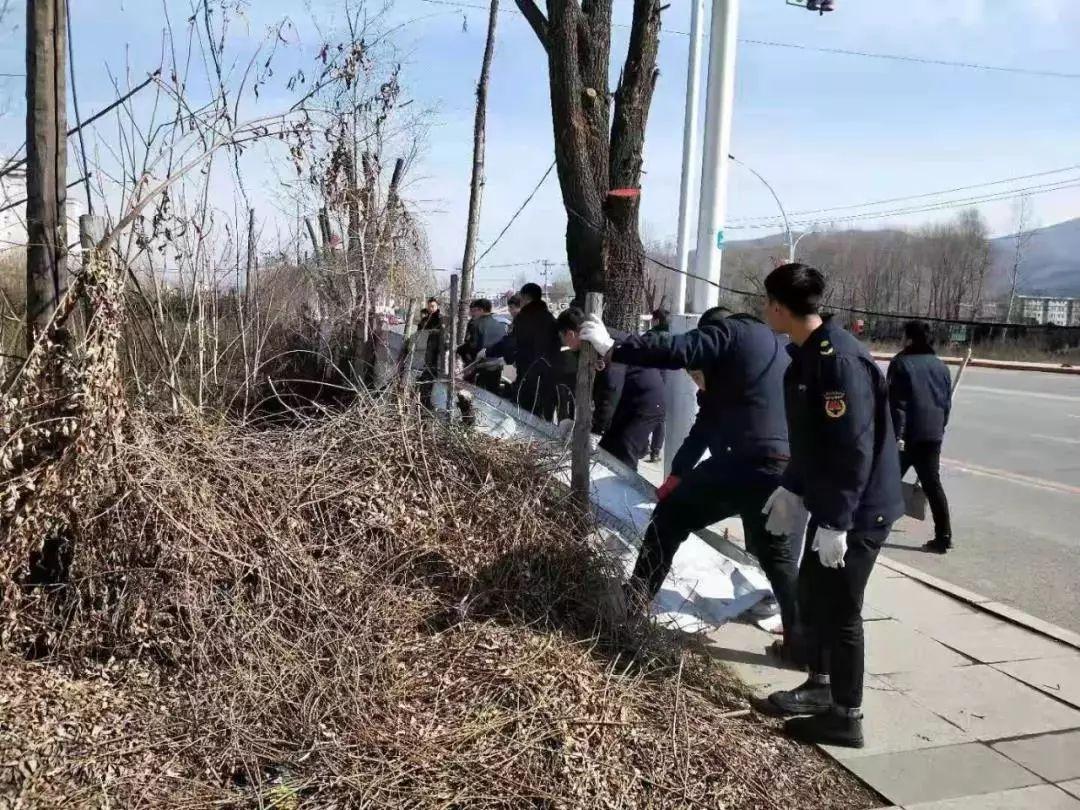 江源区城管大队开展市容市貌专项整治行动