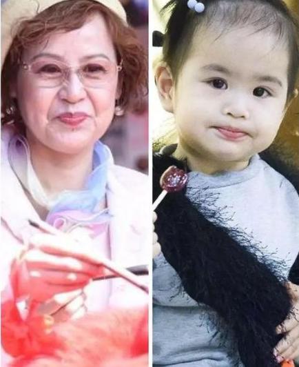 盘面孩子属于隔代遗传的明星:有的像奶奶心爱,有的被姥爷坑了