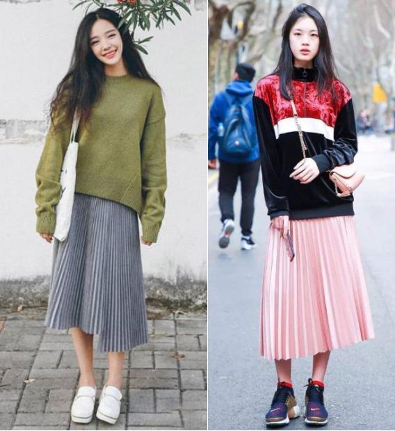 """今年春天流行""""卫衣+裙子"""",减龄又大方,时髦女人早穿上了!"""