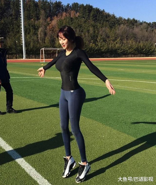 靠好身材走红的韩国最美体育老师和大她17岁的神一般男友马东锡