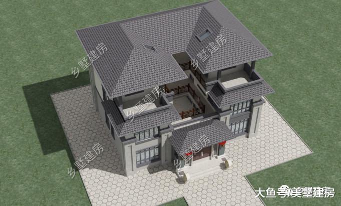 回乡村自建一栋别墅,中不雅高雅庄重,成为村中核心!