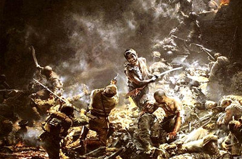 他是日军俘虏的八路军最高将发,重兵押收,救人枢纽降在真军脚里