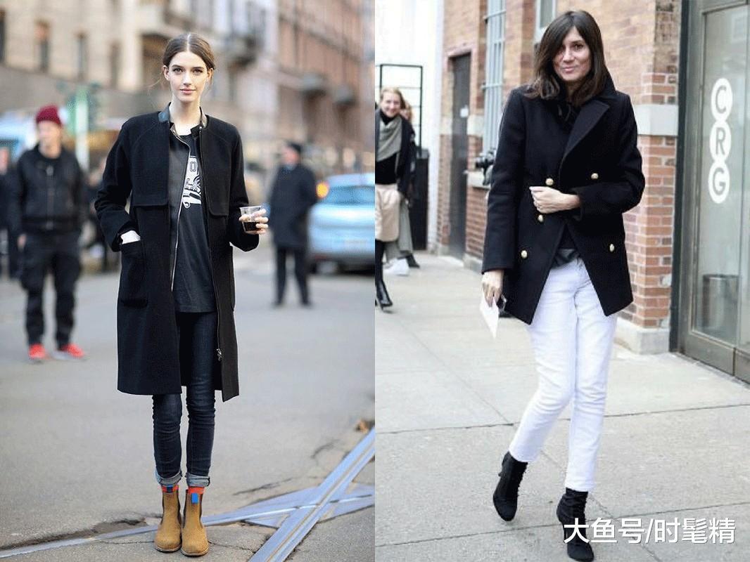 """经典百搭的""""黑色大衣"""",女人冬天少不了,穿上显瘦时髦有气质!"""