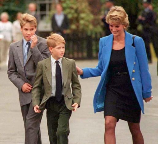 哈里青春期异常起义, 常常测验考试做各类好事, 只果他很眷念母亲戴妃
