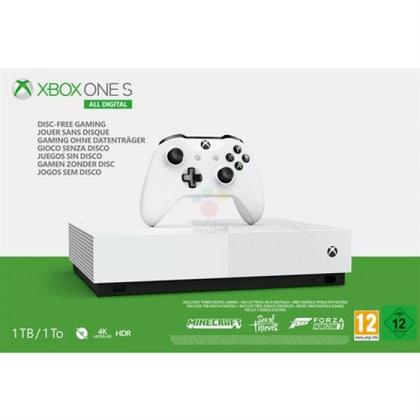 1735元!Xbox One S全数字版曝光:5月7日开卖