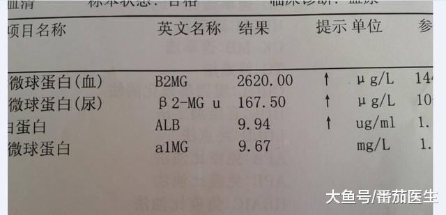 体检化验单的生理和病理含义!