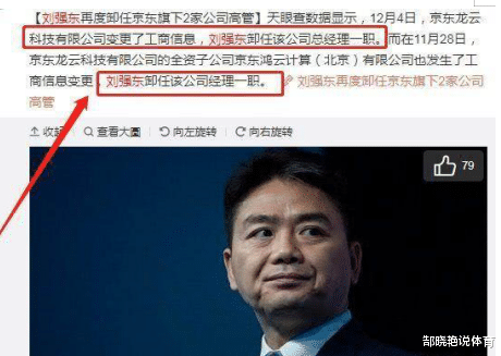 刘强东带走一票骨干正在退出京东,网友:另起东山很容易