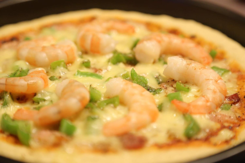 脚工和里也能做出好吃的披萨, 中层香脆、内层坚实, 家人皆道好吃