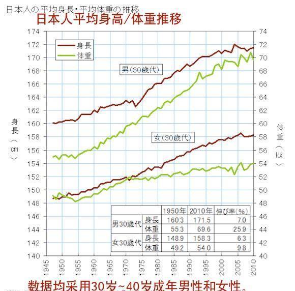 身長 平均 日本 男性 人