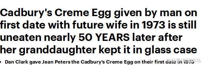 英国男子留存丈夫首次约会收的奶油蛋50年, 住养老院皆随身照顾