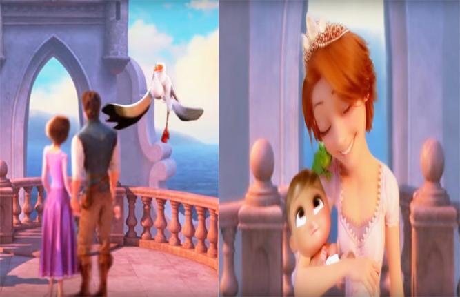 艾莎和梅莉达没有丈夫,送子鹳给她们送了宝宝,你最喜欢谁的宝宝