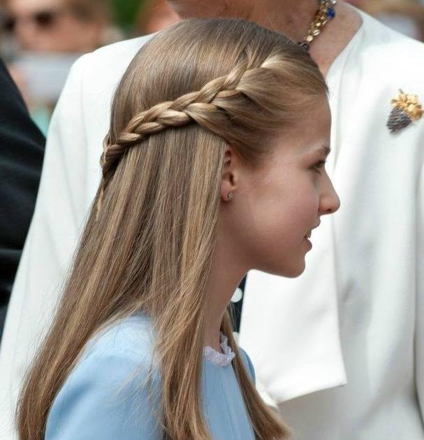 13岁西班牙王储9款发型盘点,直发清爽,卷发俏皮,颜值太高图片