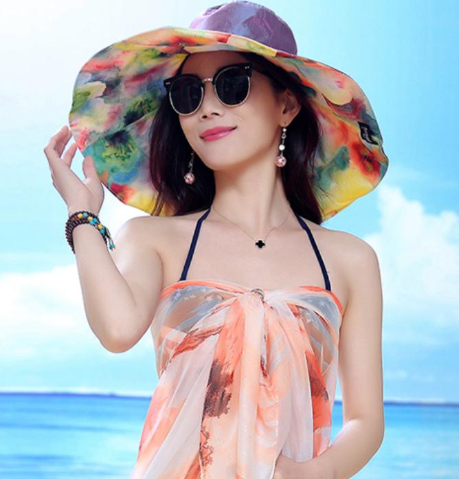 """新发现的""""彩色度假帽""""款式真新颖!戴着它出国游,人人夸像仙女"""