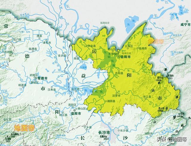 湖南省岳阳市城区高清地图