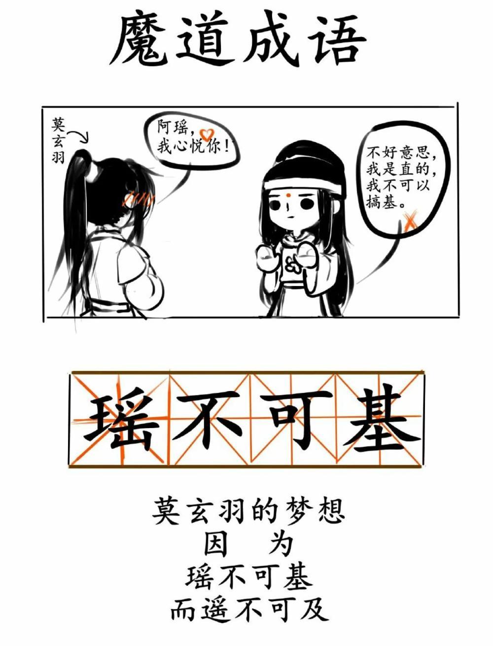 魔讲祖师:魔讲祖师中的成语,义无反顾蓝记机,瑶弗成及金光瑶!