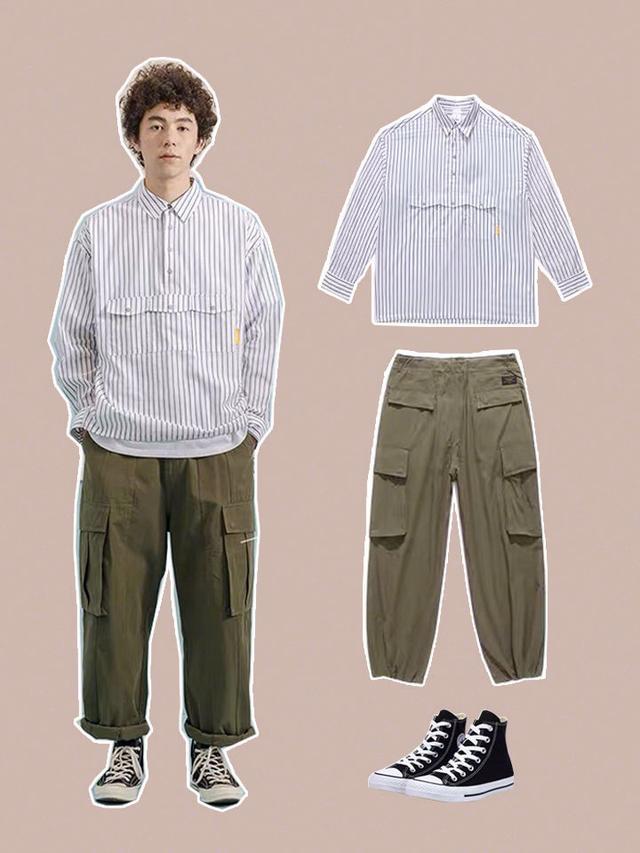 男死春季日系衬衫搭配 | 男同伙离男神只差一件衬衫的间隔~