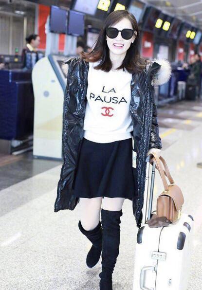 朋分产业后马蓉初次现身机场, 网友: 跟我每次发人为后一样啊