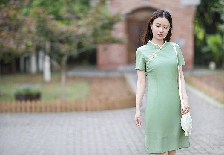 中式旗袍,今夏展现优雅的色调
