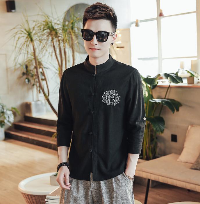 夏季中国风穿搭,这才是最适合:中国男人身材的民族服饰