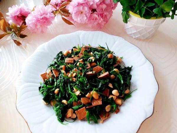野菜蒲茼草最简单的做法,原味凉拌,口感清爽容易学