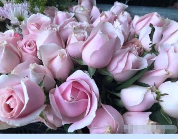痛失爱妻后辛龙首现灵堂,满脸憔悴婉拒采访,现场一片粉色花海