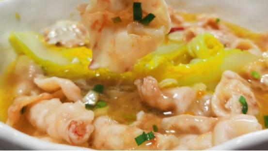 如何尝试美好生活? 一对儿大虾告诉你,尝试一下酸汤虾滑片吧