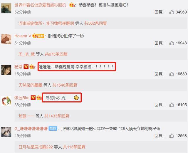 """魏晨520卡点官宣结婚,杨紫激动送祝福,反被网友""""调戏"""""""