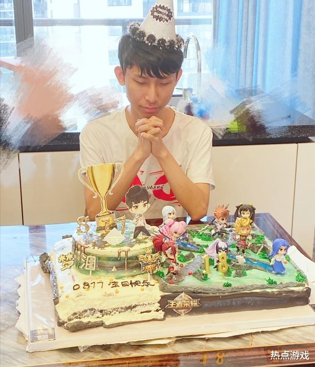 """传奇之永恒的经典_韩跑跑""""18""""岁生日会,充满正能量,切蛋糕放的BGM亮了"""