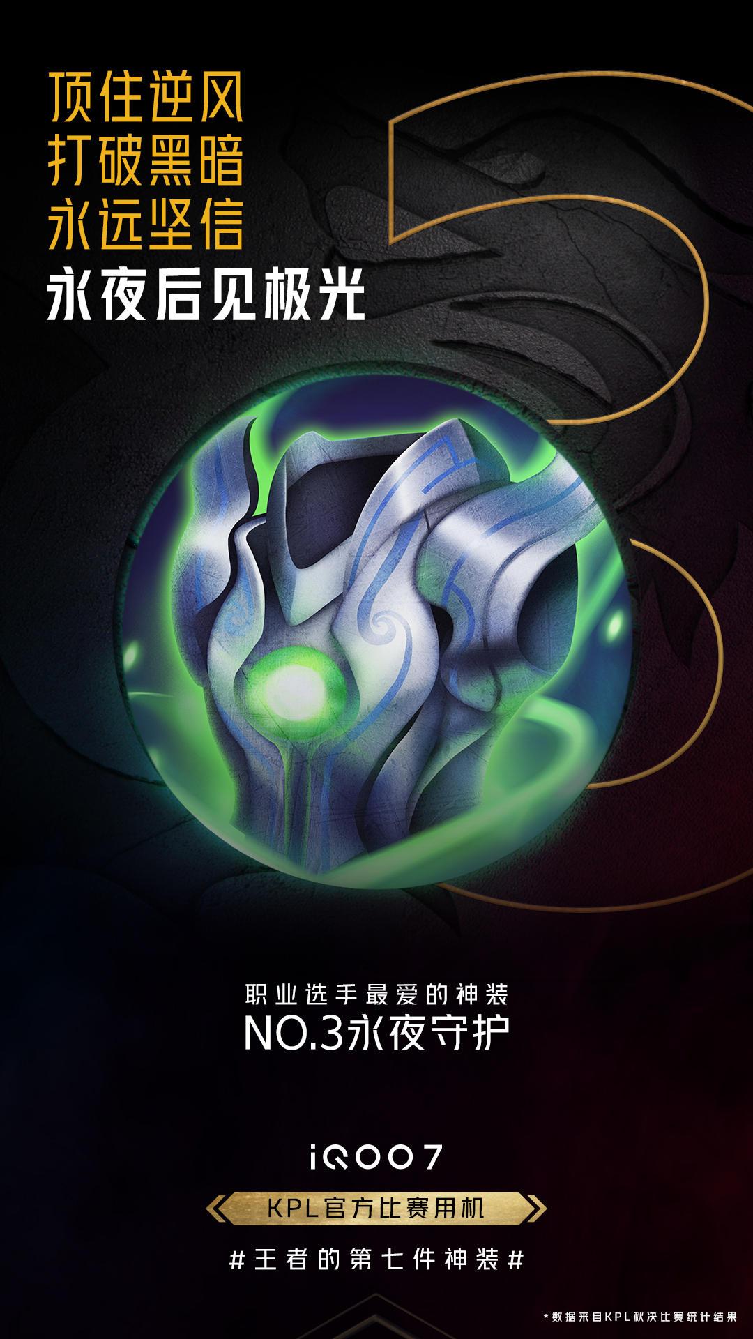 《【煜星娱乐登陆官方】王者荣耀资深玩家必答题,这些神装暗示了iQOO 7哪些特性?》