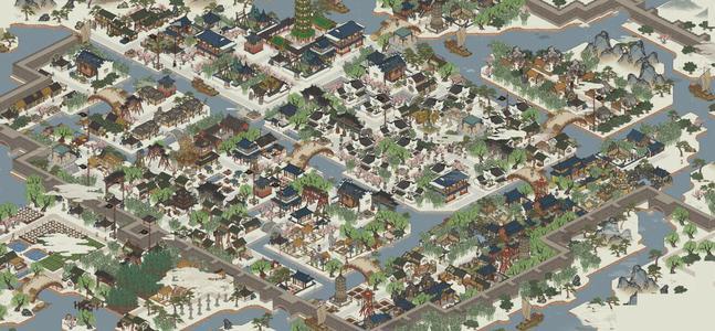 水墨风的模拟经营手游,历史背景完全架空,十分适合中国玩家 唐伯虎 模拟经营 手游 手游热点  第1张