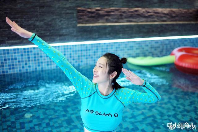 唐艺昕孕期游泳未发胖,孕妇保持好身材,运动莫跟风饮食需注意