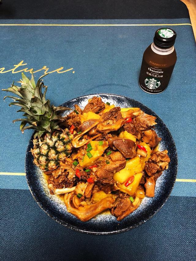 水果和肉的完美结合,菠萝鸭,让你体会清香的肉味