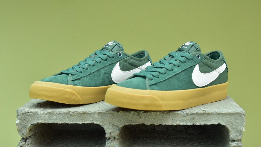 Nike SB Zoom BlazerLow Pro GT白绿生胶