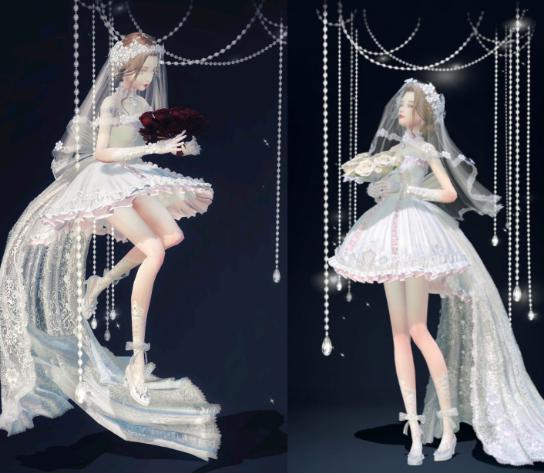 盘点云裳羽衣的婚纱套装,因爱之名最梦幻,圆了公主婚礼的梦 婚礼 时装搭配 婚纱 每日推荐  第6张