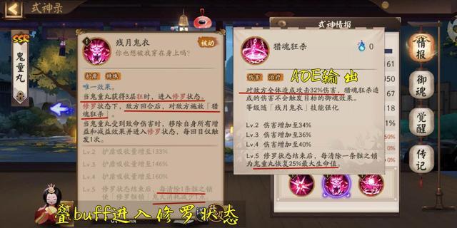 阴阳师:鬼域修罗鬼童丸技能解读以及使用攻略,复杂的输出式神插图(5)
