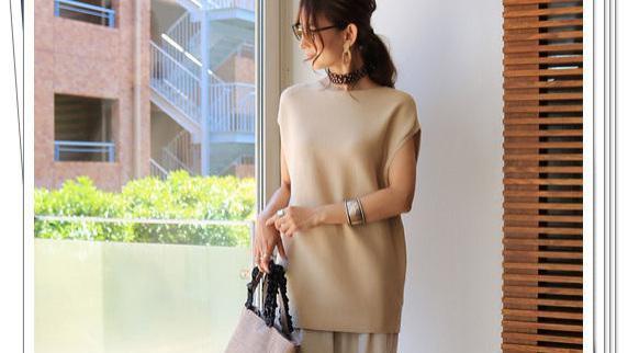 夏季针织衫的日系通勤穿搭,让你上班时看起来更漂亮
