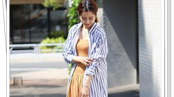 条纹衬衫裙太好穿了!当开衫搭配也很美,适合轻熟女人的流行穿搭