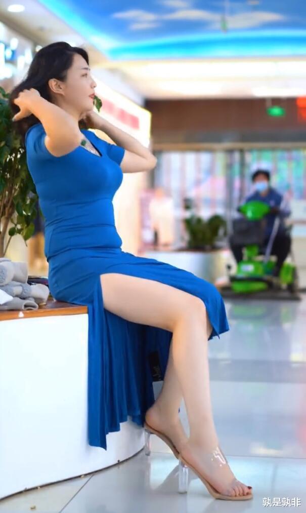 开叉裙适合微胖美女,塑造身体,诠释微胖才是最美的!插图6