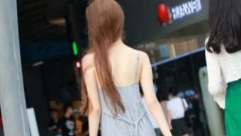 纯棉连衣裙夏季吸汗柔软, 风一吹轮廓尽显, 完美凸显身材
