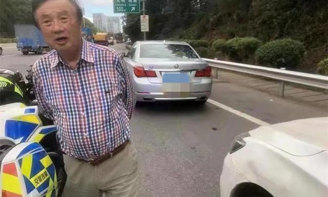 任正非自己驾驶的汽车在路边抛锚,交警:自己还能开车(图3)