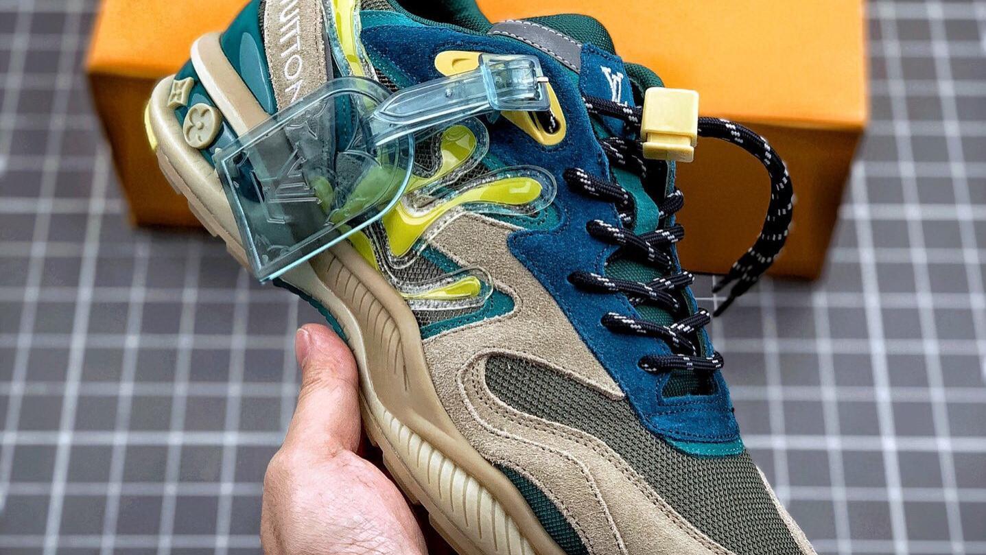 高奢品牌Louis Vuitton路易威登Run Away Pulse户外跳动系列低帮老爹登山风厚底增高复古休闲运动鞋