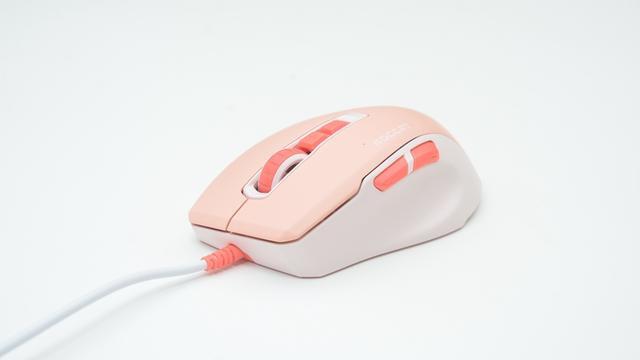 冰豹KONE PURE夜枭ULTRA轻量版游戏鼠标(珊瑚粉)评测